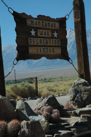 Manzanar War Relocation Center Sign