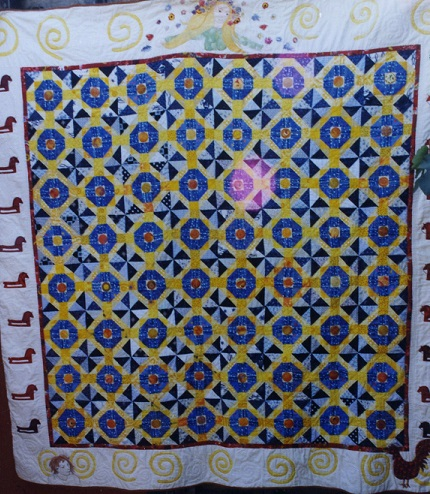 Cropped wedding quilt